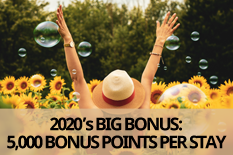 2020's BIG BONUS: 5,000 BONUS POINTS PER STAY