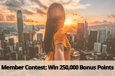 Member Contest: Win 250,000 Bonus Points
